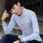Button-down Collar Check Shirt