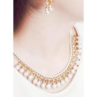 Beads-dangled Bold Necklace