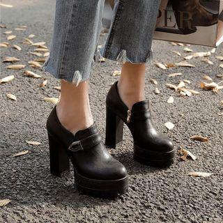 Platform Chunky-heel Shoes