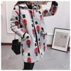 Printed Snap-button Coat