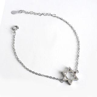 Hexagram Bracelet Silver - One Size