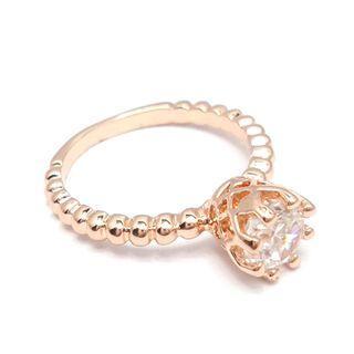 Rhinestone Ring Gold - One Size