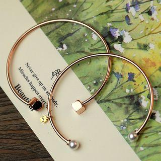 Pearl Open Bangle