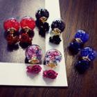 Rose Glass Ball Studs