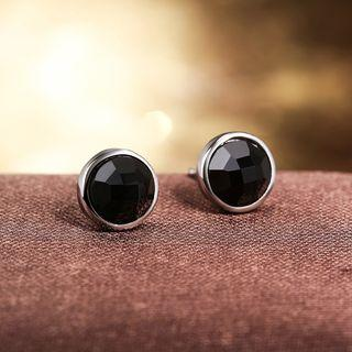 Sterling Silver Jeweled Studs