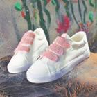 Glitter Canvas Velcro Sneakers