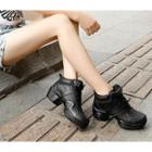 Genuine Leather High-top Dance Sneakers