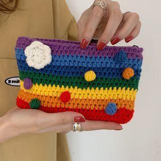Rainbow Crochet Coin Purse