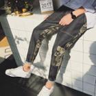 Camouflage Printed Slim-fit Pants