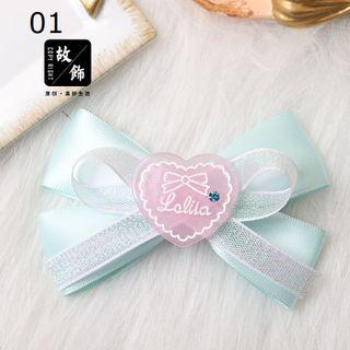 Fabric Bow Hair Clip / Headband