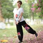Embroidered Baggy Pants