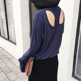 Cutout-back Long-sleeved Top