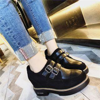 Buckled Platform Boots