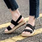 Velcro Braided Platform Sandals
