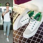 Canvas Cutout Sneakers