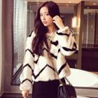 Striped Furry Jacket