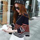 Stripe Panel Knit Top