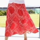 Tiered Paisley Long Skirt