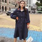 Hooded A-line Trench Coat