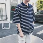 Loose-fit Striped Polo Shirt