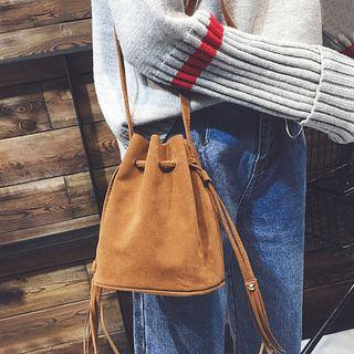 Faux-leather Cross Body Bucket Bag