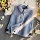 Lapel Fleece Zip Vest