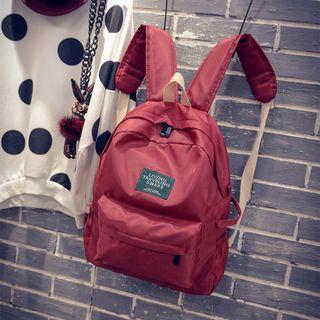 Applique Plain Backpack