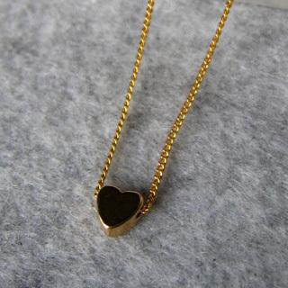 Golden Little Heart Short Necklace