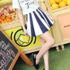 A-line Striped Skirt