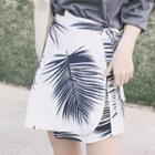 A-line Printed Mini Skirt