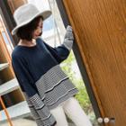 Striped Drop Shoulder Knit Top