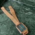 Retro Rectangle Bracelet Watch A103 - Gold - One Size