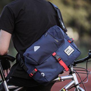 Buckled Messenger Bag Blue - One Size