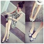 Floral Applique Pointy Flats