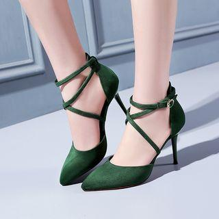 High Heel Cross Strap Sandals