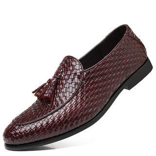 Tassel Faux Leather Loafers