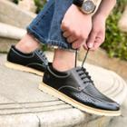 Perforated Genuine Leather Walk Oxfords