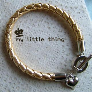Cool Leather Bracelet In Gold