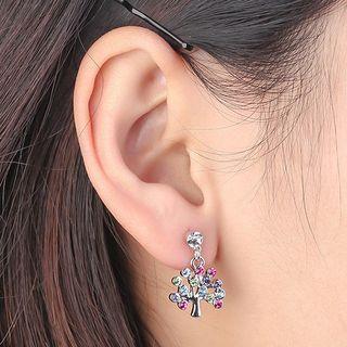 Austrian Crystal Tree Drop Earring