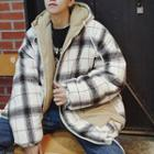 Reversible Gingham Padded Hood Jacket