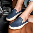 Contrast Color Cutout Loafers