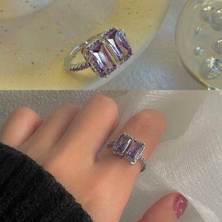 Gemstone Ring 1551a - Silver - One Size