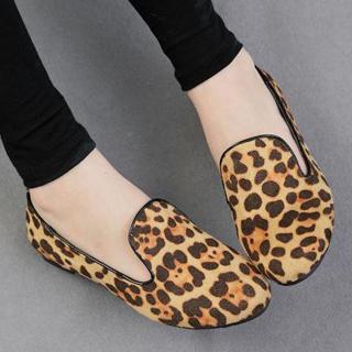 Leopard Print Flats