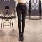 Fleece Linen Skinny Pants