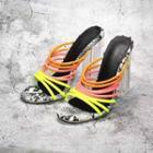 Transparent Block-heel Strappy Slide Sandals