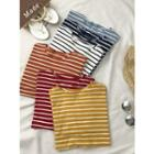 Loose-fit Colored Stripe T-shirt