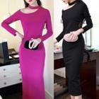 Asymmetric Cutout Sheath Dress