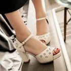 Brogue High Heel Sandals