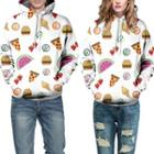 Couple Printed Hooded Pullover