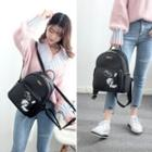 Panda Print Faux Leather Backpack